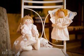 Anjos de pano, comprar santo antônio de pano, bonecas para daminhas, - Buquê de Noiva Santo Antônio by Rapariga Arteira