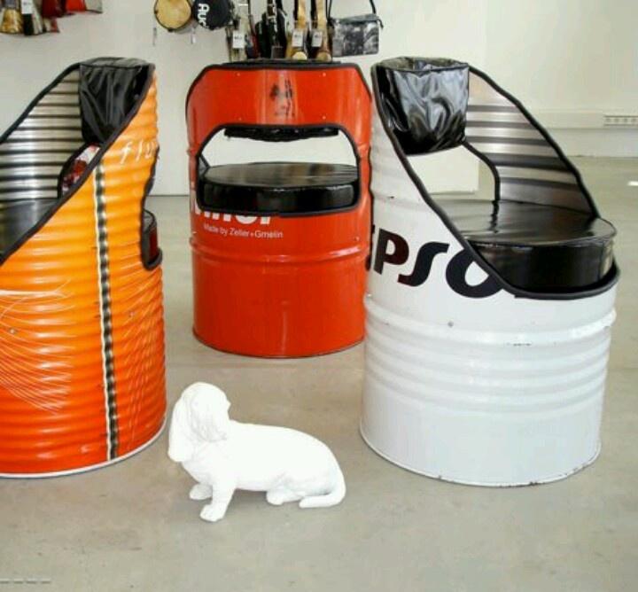 20 best images about steel drum ideas on pinterest - Muebles de metal ...