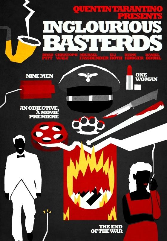 Posters de cinema minimalistas - Inglourious Basterds