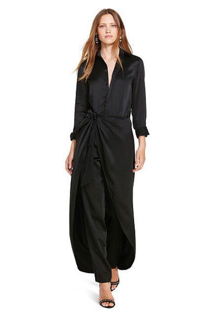 When it feels like pajamas, but looks like a black-tie outfit.Ralph Lauren Silk Satin Jumpsuit, $498, available at Ralph Lauren. #refinery29 http://www.refinery29.com/2016/11/129129/nyc-most-popular-clothing-brands#slide-11