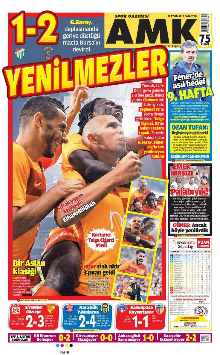 SPORUN MANŞETLERİ (25 EYLÜL 2017) - 4 | NTVSpor.net