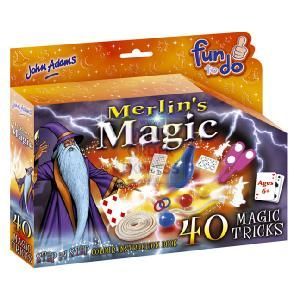 John Adams Fun To Do Merlins Magic  Learn how to perform 40 magic tricks with the detailed Wizard s guide and instruction booklet  http://www.comparestoreprices.co.uk/creative-toys/john-adams-fun-to-do-merlins-magic.asp