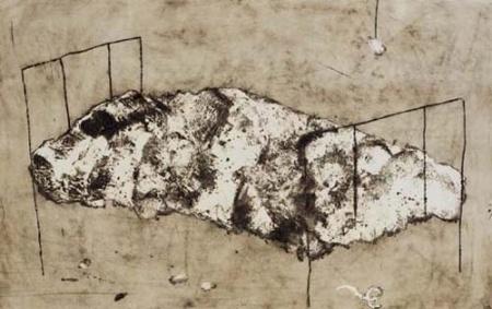 Carborundum - Miquel Barcelo - Cama