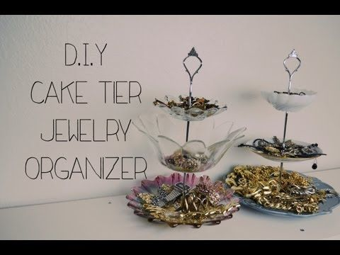 D.I.Y Cake Tier Jewelry Organizer - YouTube