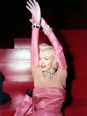 Los caballeros las prefieren rubias, Marilyn Monroe, 1953