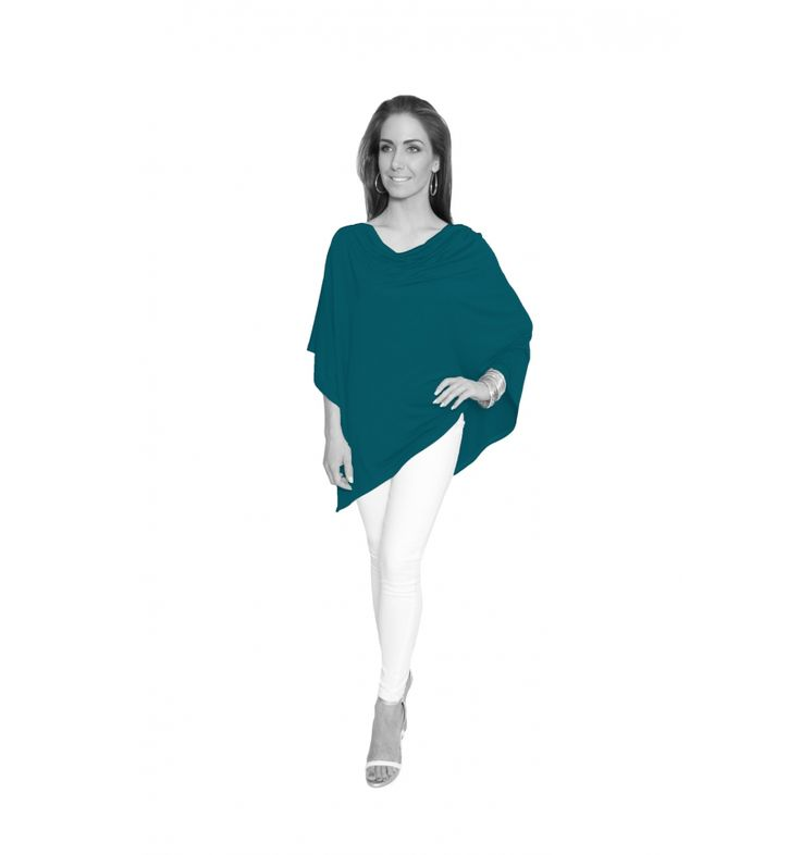 Teal Winter Lightweight Poncho