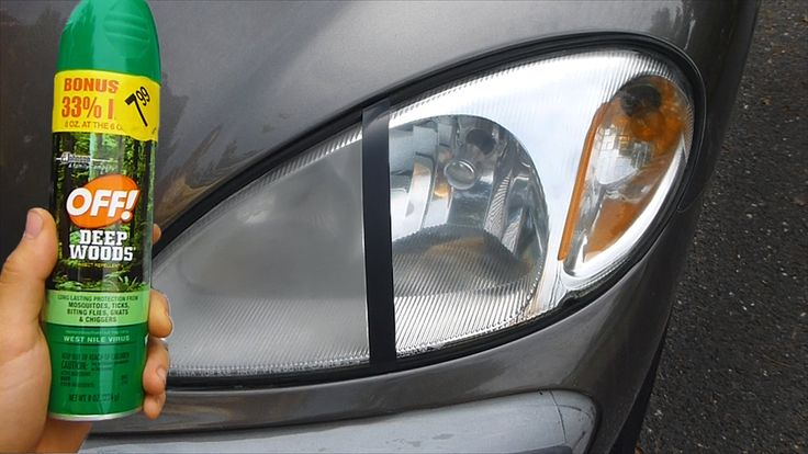 Bug spray headlight restoration, This is a video to show you how bug spray with DEET, can clean and restore headlights by removing oxidation, haze, and yello...