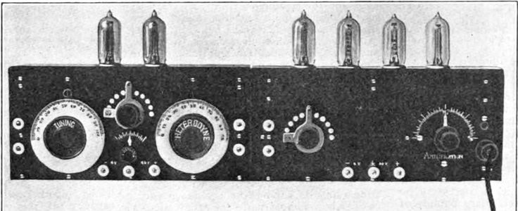 prototype #superheterodyne receiver built at #Armstrong's Signal Corps lab in Paris during WWI @PerihelionSF