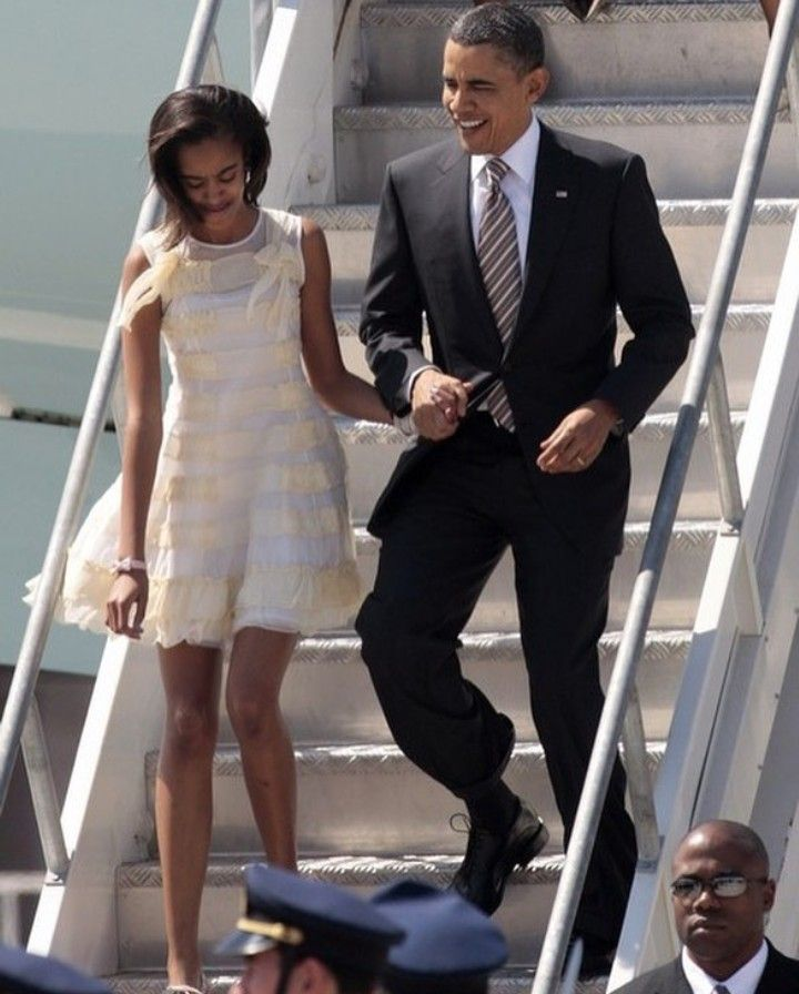 Daddy's girl. Malia and Barack Obama