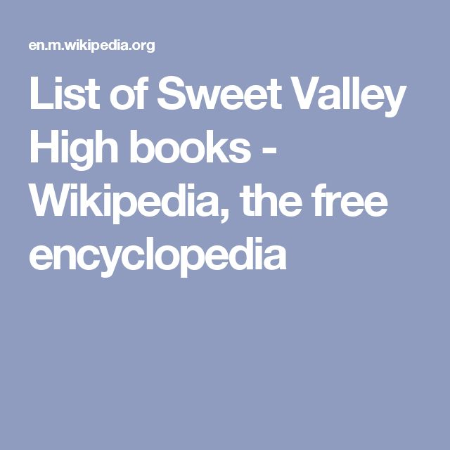 9 best oh so sweet valley high images on pinterest candy
