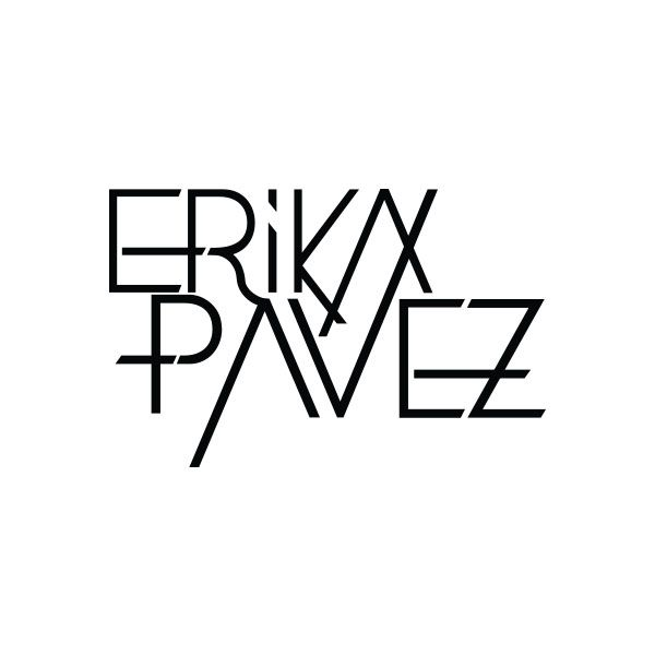 Logotipo monocromatico de la marca de ropa Erika Pavez.