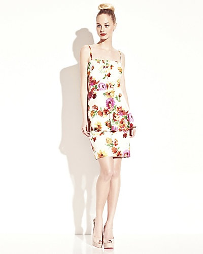 Betsey Johnson - FLORAL DRESS WITH PEPLUM MULTI