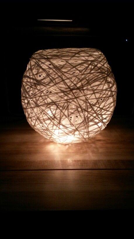 Sfeerlichtje van wol en ballon