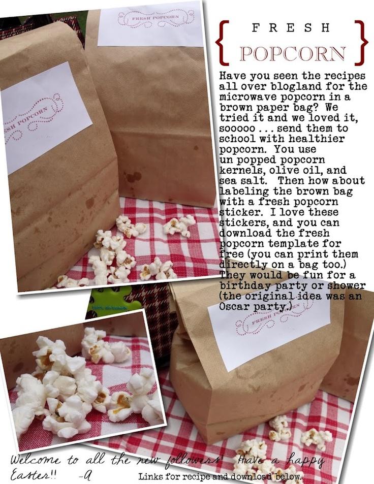 Pinecone: brown bag popcorn