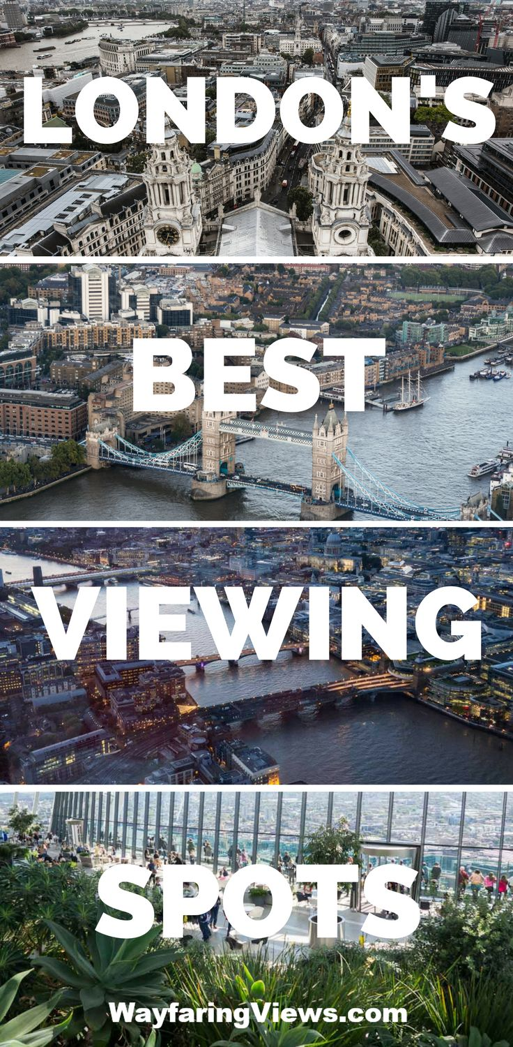 See the best views of London with this guide to all the best sky high spots. #travel to #London #England Things to do in London | Shard | Tower of London | London Eye | London viewing platforms | London rooftop pbars | What do do in London | City view of London | Birds eye View of London