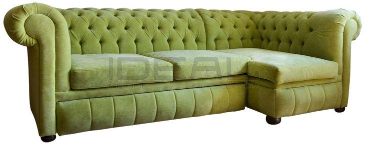 Jasno zielonynarożnik chesterfield, green corner sofa chesterfield, wygodny, comfortable,  pluszowa sofa chesterfield, Narożnik Chesterfield March Rem, corner, corner sofa, velvet,  fotel,  chesterfield,  styl angielski, pikowana sofa, zilony, green, miętowy, mint, grass, groszkowy  naroznik_chesterfield_march_rem_IMG_1135.jpg (1200×479)