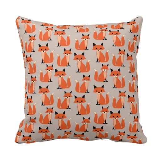 What does the fox say? Retro, rustic chic cute, whimsical woodland hipster fox pattern kawaii throw pillow - cute baby nursery room decor #whatdoesthefoxsay #fox #foxes