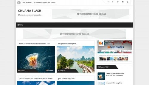Chuana Flash Blogger template » http://btemplates.com/10560