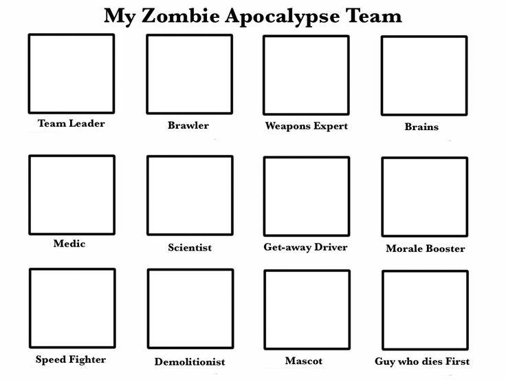 Zombie Apocalypse Team blank by Oreopata
