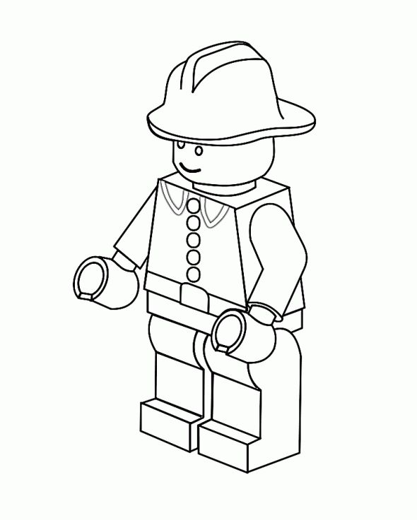Lego Coloring page Lego Birthday Ideas Pinterest