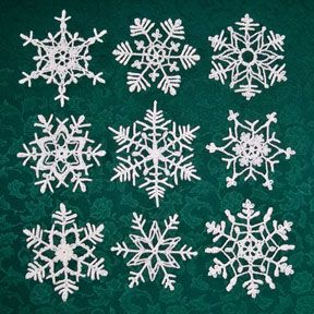 Stiffening Crocheted Snowflakes