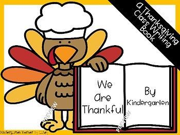 Create a Thanksgiving Class Writing Book for your classroom library in your kindergarten or first grade! This package includes 4 cover options along with your choice of student writing paper.