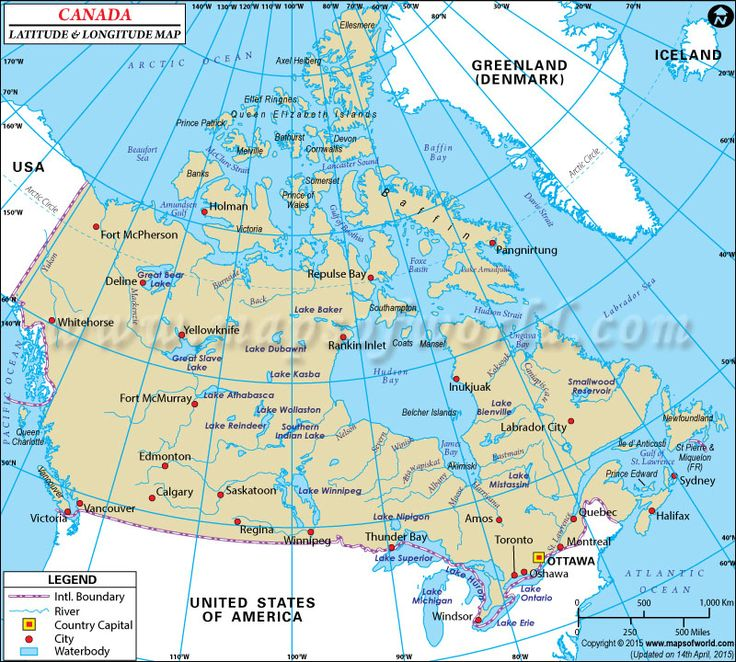 Best Latitude Longitude Maps Images On Pinterest Airports - Canada map major cities
