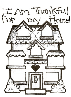 LDS Nursery Color Pages: 31 - I Am Thankful For My Home