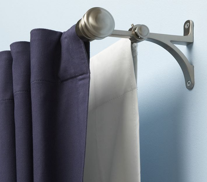 Blackout Curtains Double Rod, Can A Tension Rod Hold Blackout Curtains