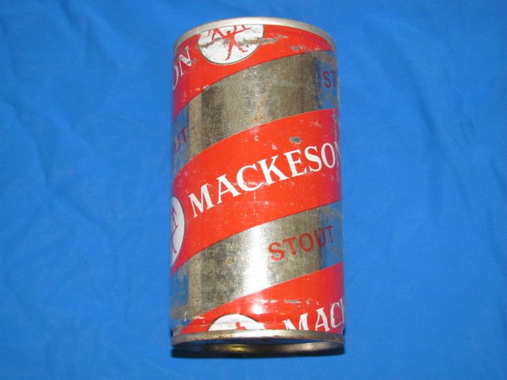 Mackeson Stout STEEL Beer Can Ale Vintage BOTTOM OPENED Lager England
