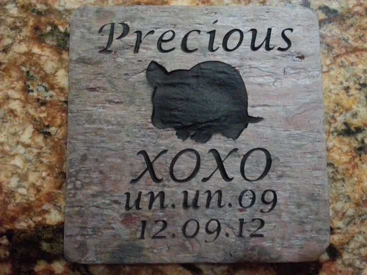 Personalized Hamster Pet Memorial Gravestone 6 x 6 Inch Slate Memorial | Pet Memorial Stones Personalized Garden Pet Memorial Stones