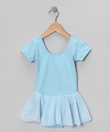 light blue camisole chiffon skirt leotard