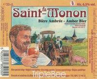 Label van La SaintMonon Bière Ambrée