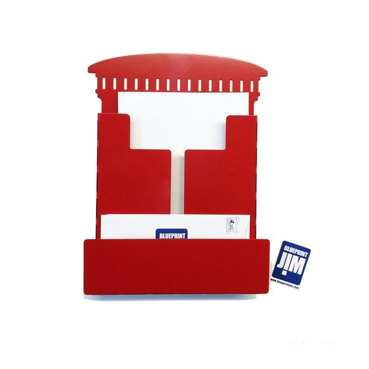 Red+metal+Postbox+post+Rack