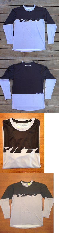Jerseys 56183: Yeti Men Mountain Bike Jersey Medium Black And Gray Cool Max BUY IT NOW ONLY: $40.0