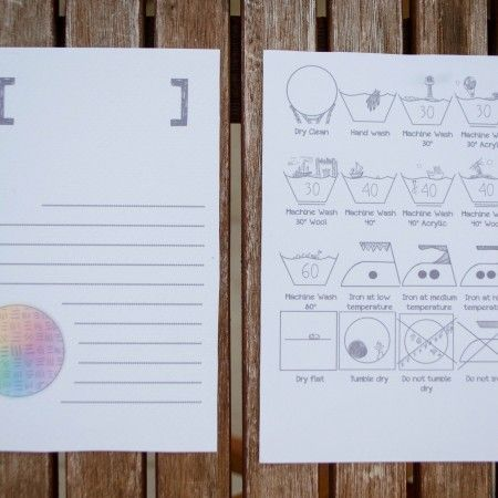Kar{e}tpostal – Hand Drawn Care Laundry Labels for Handmade Products - 3.00 €