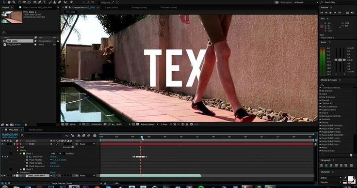 Creating Text Behind Mask Effect in Adobe After Effects CC | 4K Shooters