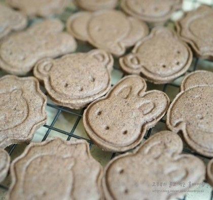 쌀가루로 만들어본 동물모양 쿠키 (쌀베이킹, 동물쿠키, 코코아쿠키) : 네이버 블로그