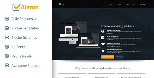 Aleron - Responsive Marketing Landing Page