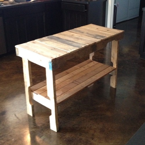 Reclaimed Wood Distressed Table Desk Custom Built Furniture Made from Pallets | eBay