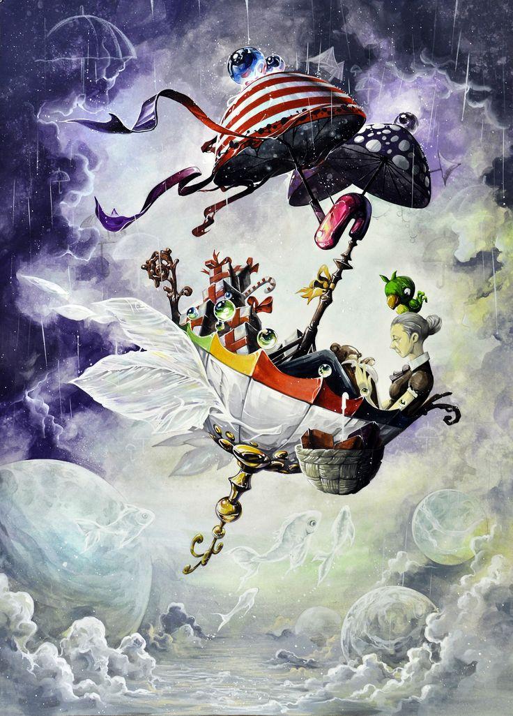 우산 - 동심의 세계