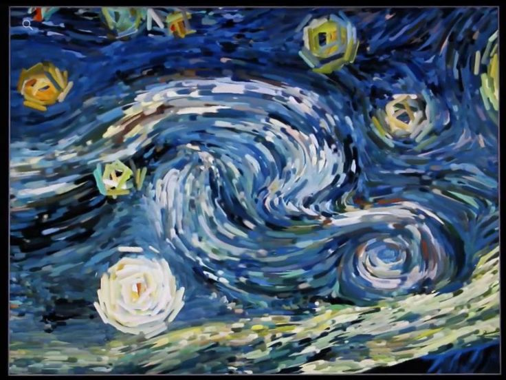 """Starry Night (interactive animation) for iPad and iPhone. Watch the iconic flows of Vincent Van Gogh's """"Starry Night"""" come to life, in a hyp..."""