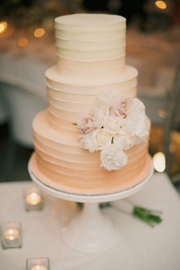 Peach Ombre Wedding Cake Cake Walk Pinterest