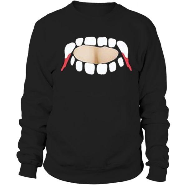 Gabby Show, vampire teeth cut out Sweatshirt