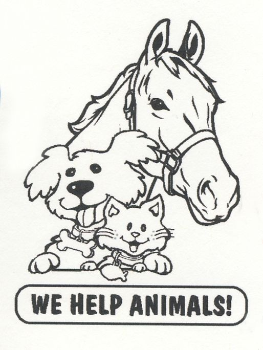 images of horses cats and dogs   Free Printable Coloring ...