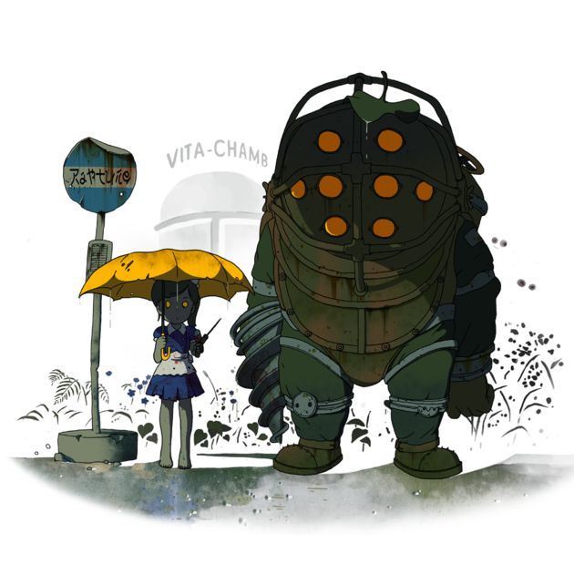 """Big Friend"" Totoro/BioShock, $14"