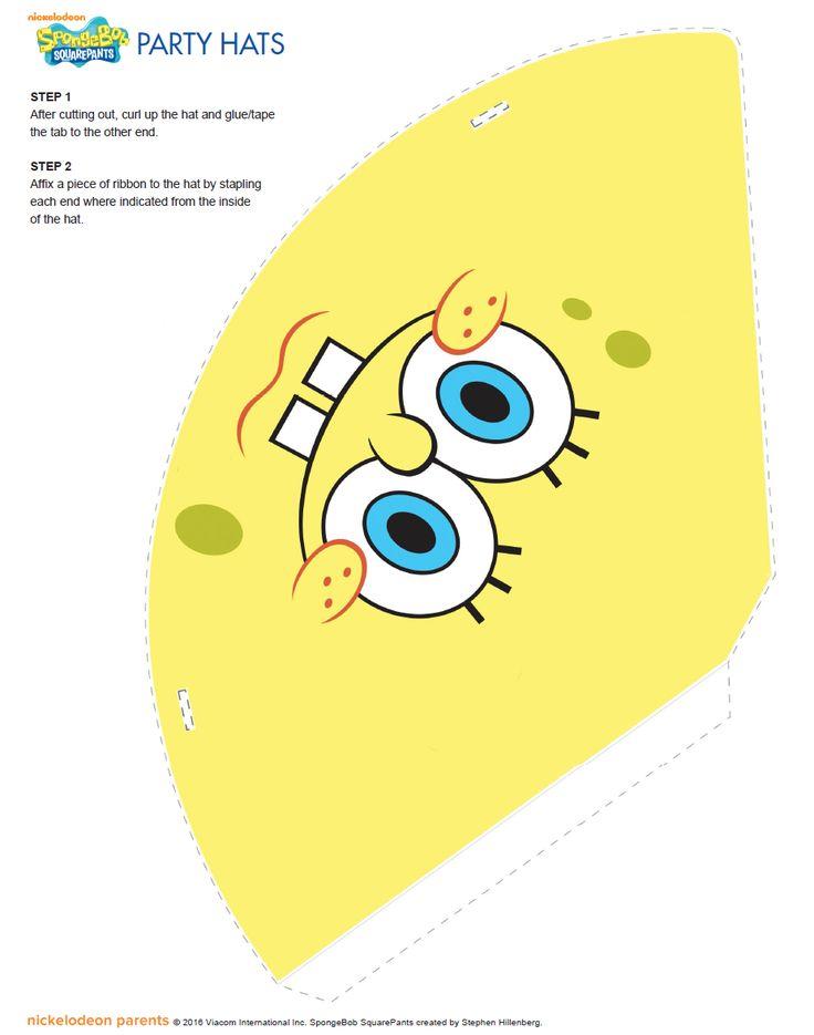 http://www.nickelodeonparents.com/spongebob-printable-party-hats/