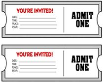 """Free """"You're Invited"""" Movie Ticket Invitation Template"""