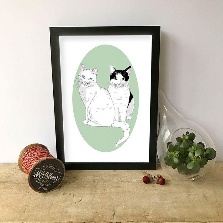 Custom Two Pets Portrait