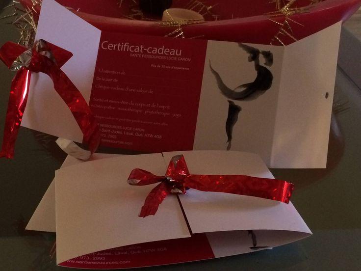 Certificat-Cadeau, chèque-cadeau pour forfait mieux-être, santé, massage, massothérapie et ostéopathie